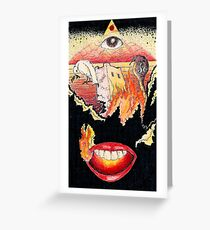 Tarot: The Tower Greeting Card