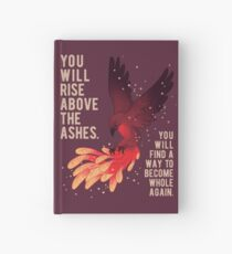 """You Will Rise Above the Ashes"" Phoenix Hardcover Journal"