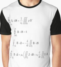 Maxwell's equations, #Maxwells, #equations, #MaxwellsEquations, #Maxwell, #equation, #MaxwellEquations, #Physics, #Electricity, #Electrodynamics, #Electromagnetism Graphic T-Shirt