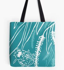 Calligrapha Beetles and Black Willow Tote Bag