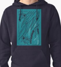 Calligrapha Beetles and Black Willow Pullover Hoodie