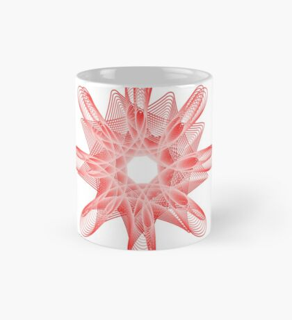 Spirals with Red and White Mug