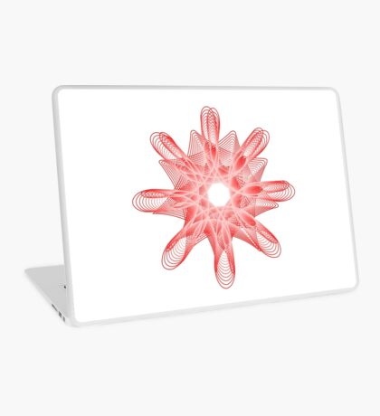 Spirals with Red and White Laptop Skin