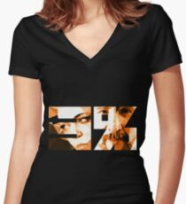 Believe in the Process Women's Fitted V-Neck T-Shirt