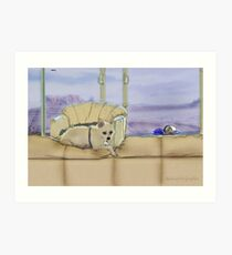 Princess Margaret (aka Maggie May) on her Perch Art Print