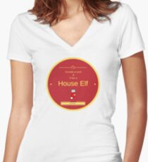 Donate a sock Women's Fitted V-Neck T-Shirt