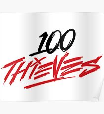 100 Thieves League of Legends American Team Poster