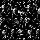 Baby skeletons dancing by nokhookdesign