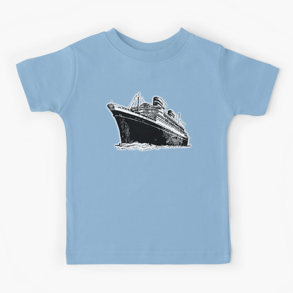 Cruise Ship, Ocean Liner, Ship, Trans Atlantic Kids T-Shirt