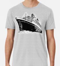 Camiseta premium Crucero, Ocean Liner, nave, Trans Atlantic