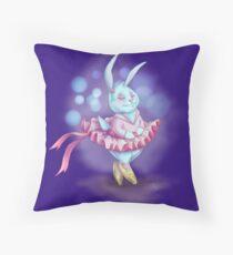 Bunny Ballerina Throw Pillow