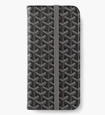 Black goyard iPhone Wallet/Case/Skin