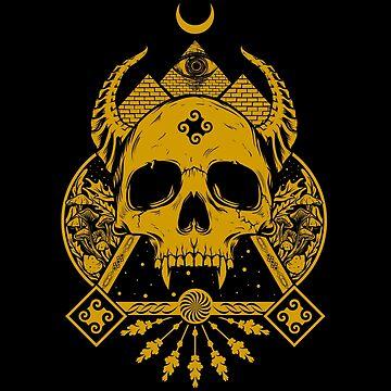 Pyramid Eye Skull by machmigo