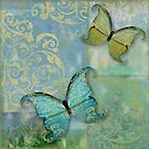 Damask Butterflies I by mindydidit