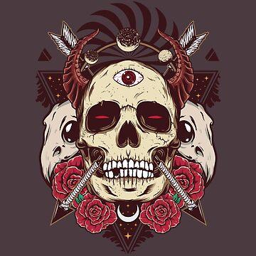 Skull Rose Dazzle by machmigo