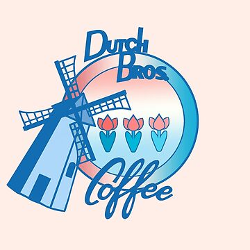 Windmill Dutch bros coffee with tulips  by MimieTrouvetou
