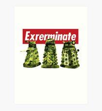 Exterminate Doctor Who Art Print