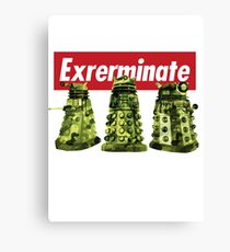 Exterminate Doctor Who Canvas Print