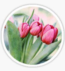 Twilight Tulips Sticker
