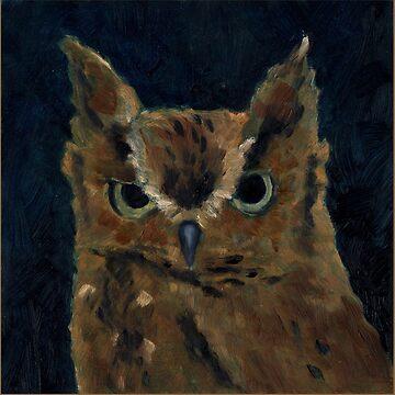 Screech Owl by salamandaz