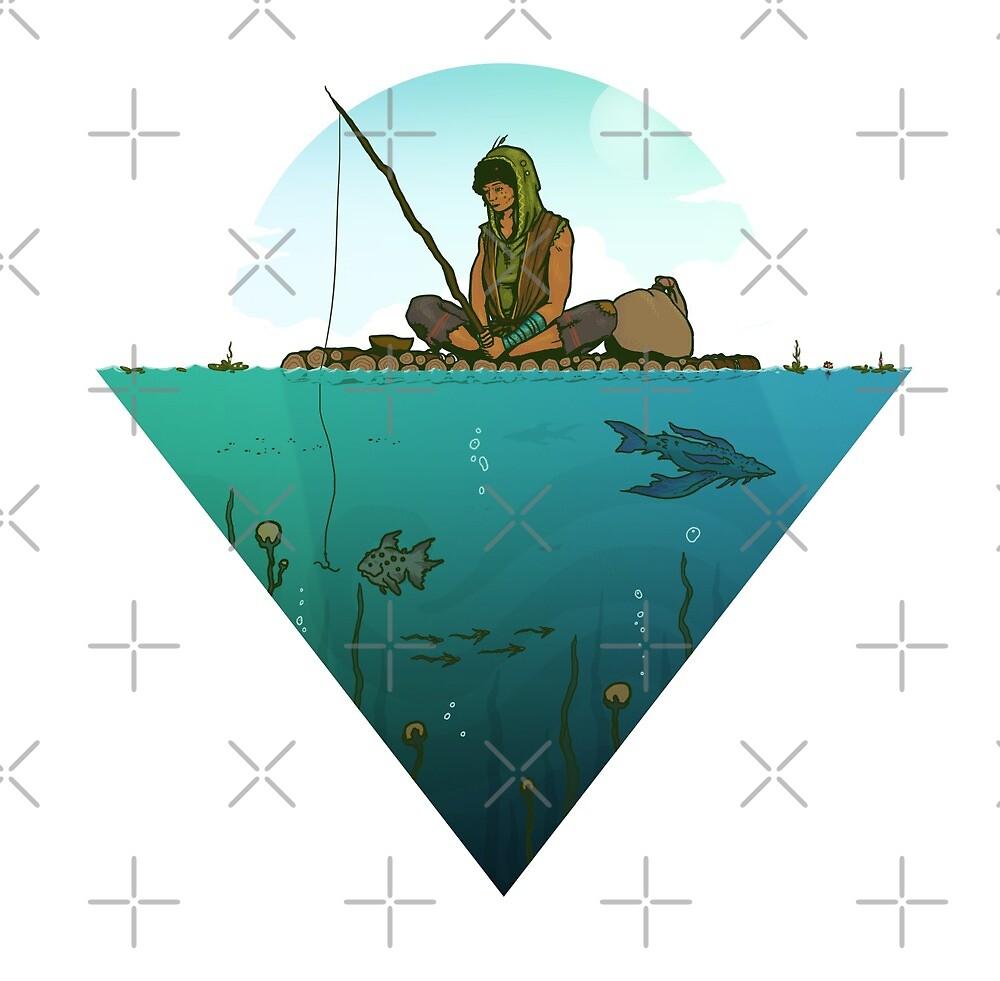 Lazy day fishing - fantasy design by zachholmbergart