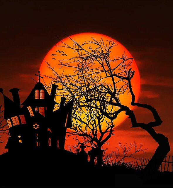 Halloween Creepy House At Forest by KostasLio