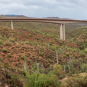 Arizona Highway Bridge Panoramic View by mrbo