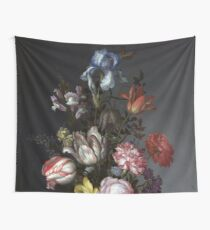 Balthasar van der Ast: Flowers in a Vase with Shells and Insects Wall Tapestry
