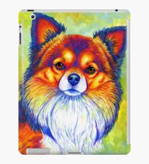 Colorful Long Haired Chihuahua Dog iPad Case/Skin