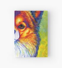 Colorful Long Haired Chihuahua Dog Hardcover Journal