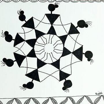 Warli Art by ranjaniart