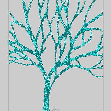 Tree of Life Turquoise 101818 by mandalafractal