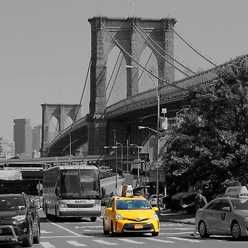 Bridge yellow taxi by dechap