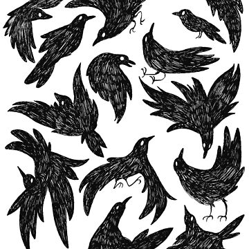 Crow Illustration pattern by exeivier