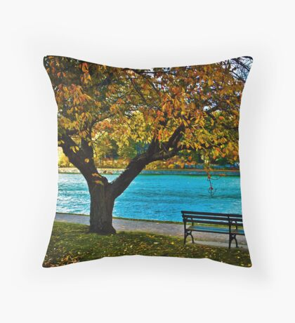 Please wait for me, running late... Throw Pillow
