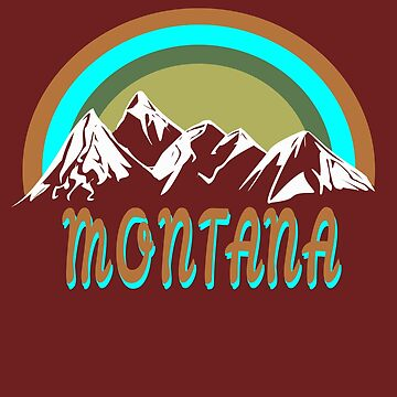 Retro montana mountain design  by jhussar