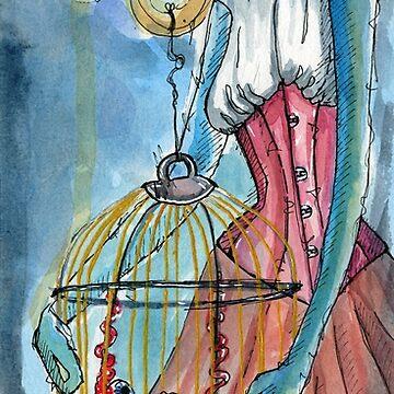 Beauty - Month of Fear watercolor by elasteel