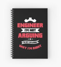Funny Engineer Quote Gift Spiral Notebook