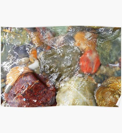 Colorful beach rocks 2 Poster