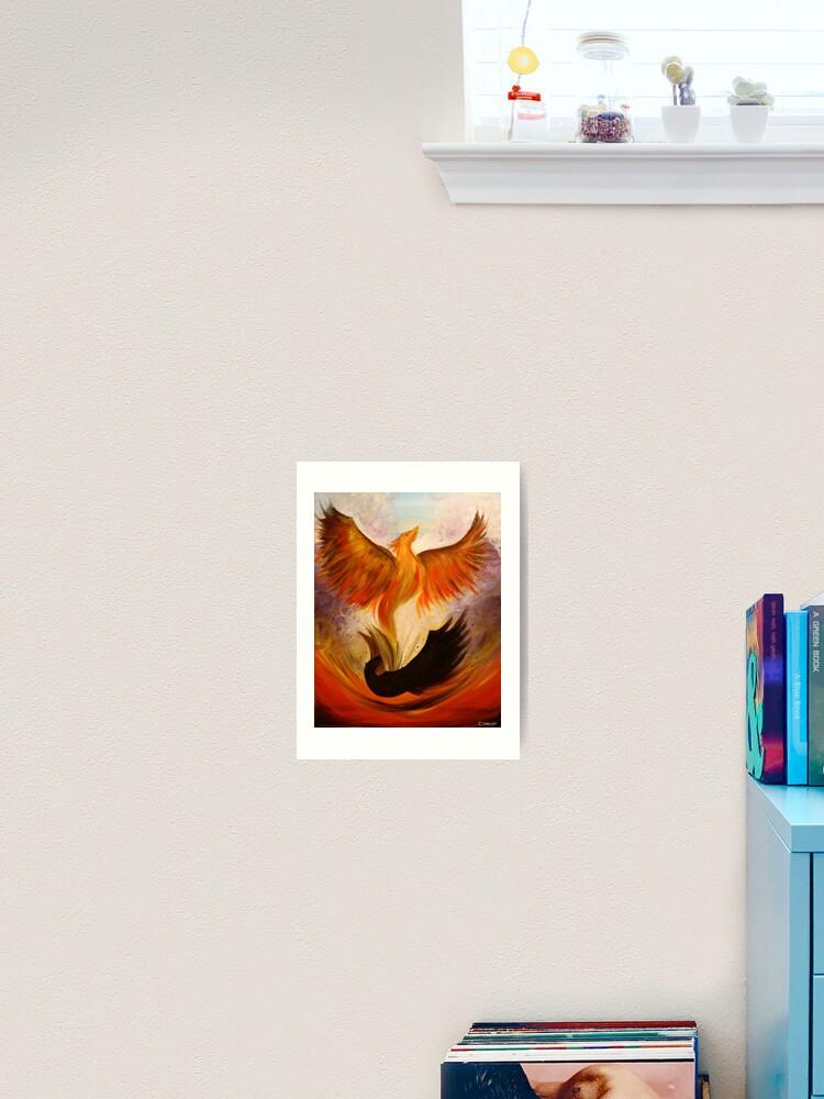 Phoenix 22 X 28 Acrylic Painting Art Print By Csoccio100