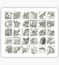 30 Animals Sticker