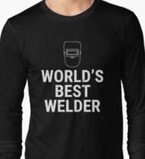 World's Best Welder Welding Mask T-shirt Long Sleeve T-Shirt