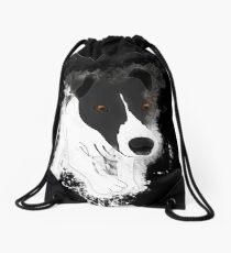 Dog funny glowing Art Drawstring Bag