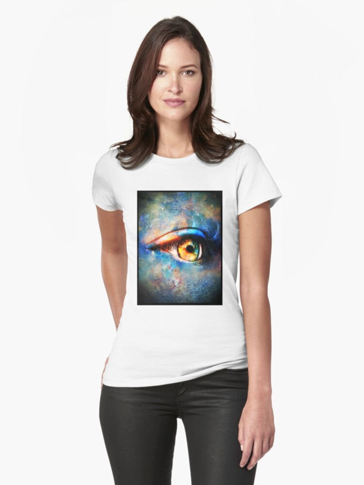 Through the Time Travelers Eye Womens T-Shirt Front