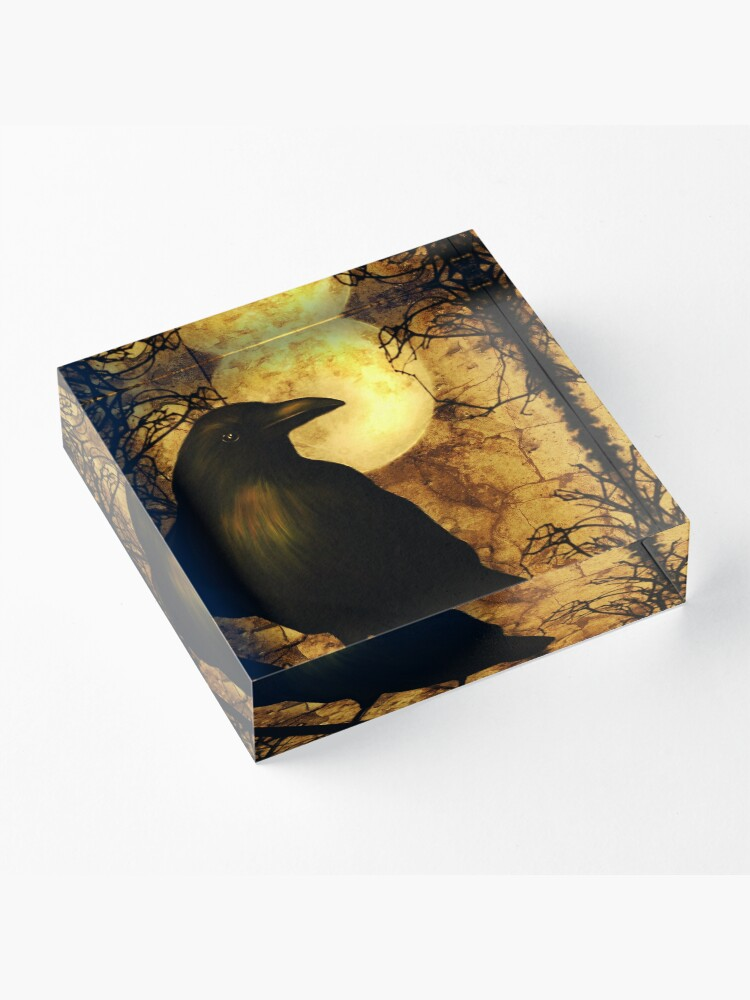 Alternate view of The Raven Acrylic Block