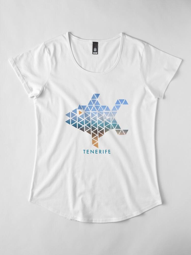 Alternate view of Tenerife Fish Premium Scoop T-Shirt