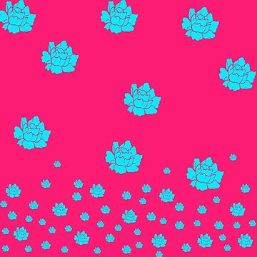 Turquoise Floral Pattern by Greenbaby