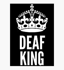 Deaf King White Version Photographic Print