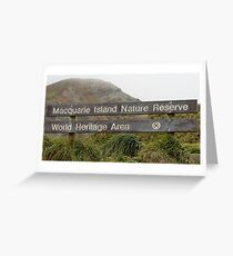 Macquarie Island Sign Greeting Card