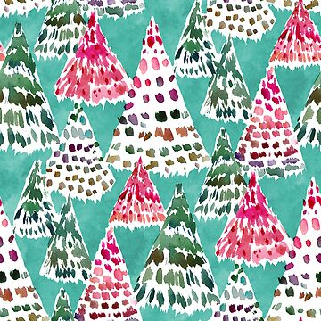 HOLIDAY FOREST Colorful Christmas Trees by Barbarian